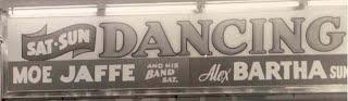 Moe Jaffe marquee billing at Atlantic City's Steel Pier